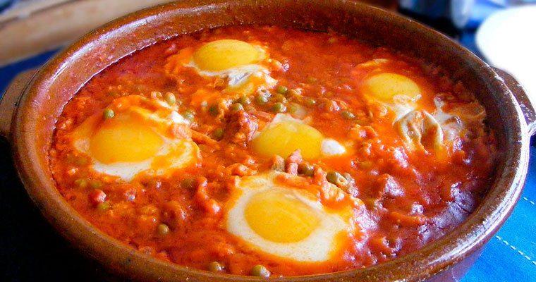 Huevos al plato al horno
